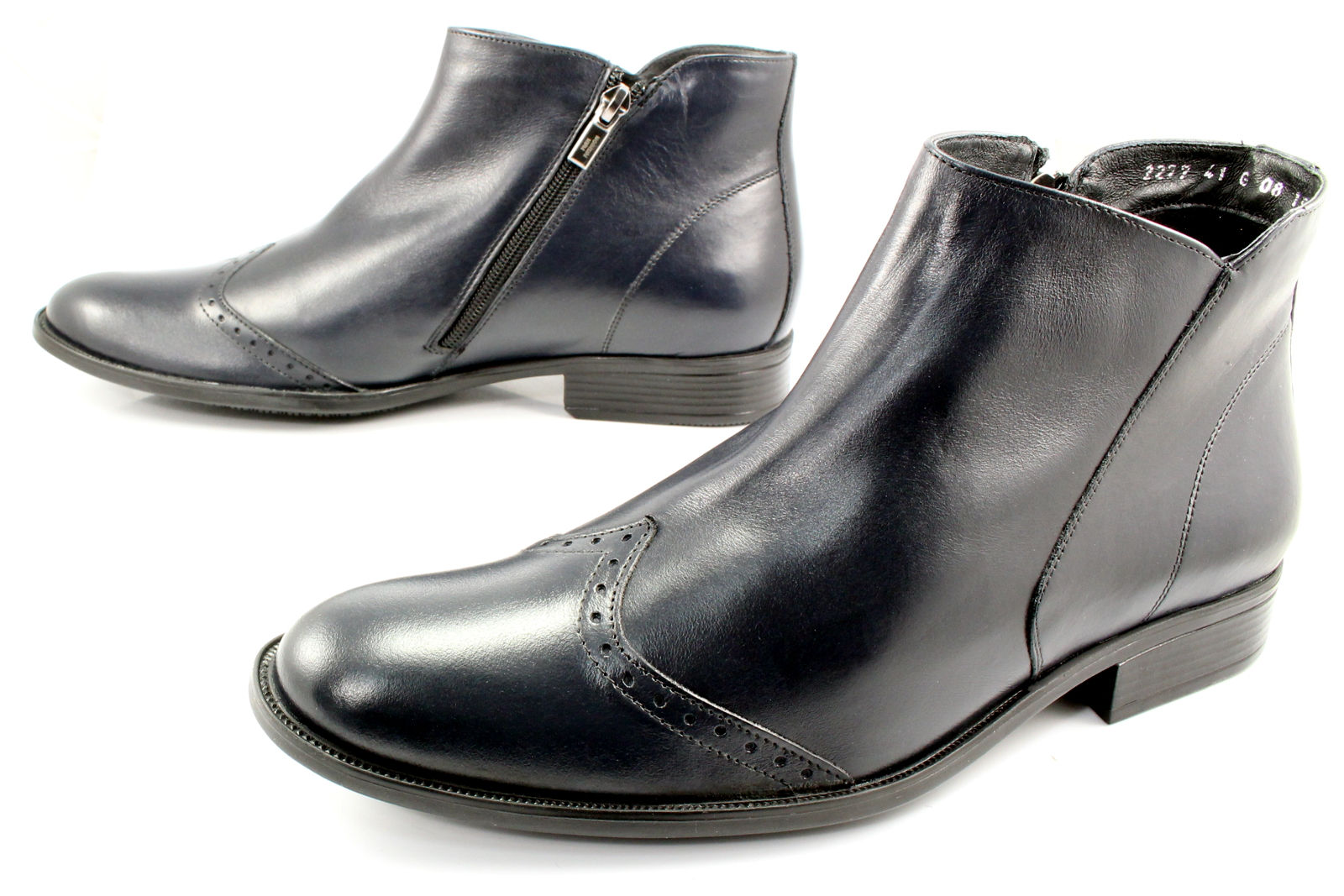 9d868efe8b1ec 2277 GRANAT - Wysokie, eleganckie, skórzane buty męskie WYPRZEDAŻ ...