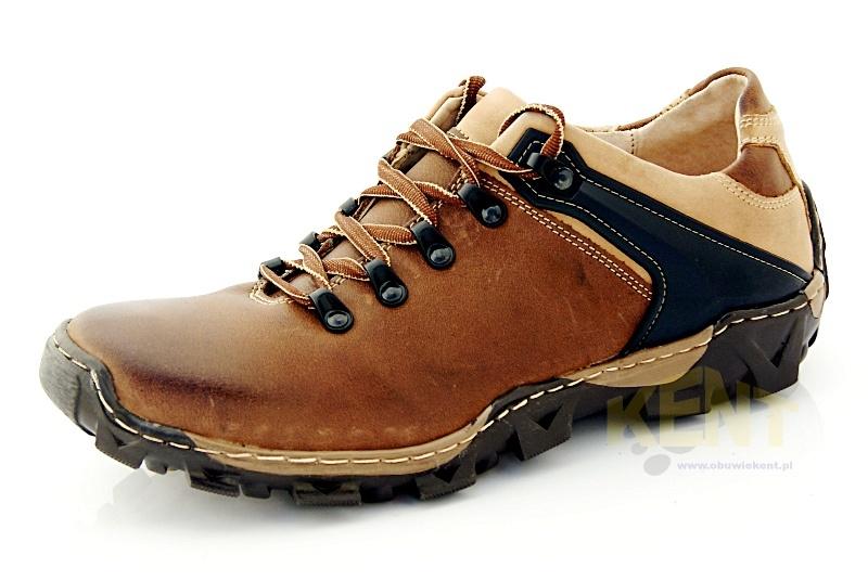 94f35fbacbd1f KENT 116 BRĄZOWE - Trekkingowe buty męskie 100% skórzane - Sklep ...