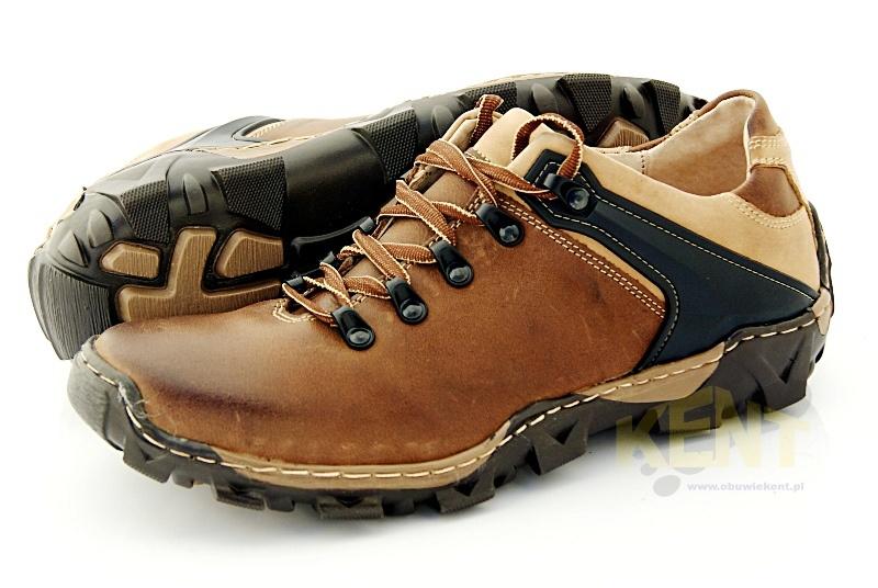 2743c5da KENT 116 BRĄZOWE - Trekkingowe buty męskie 100% skórzane - Sklep ...