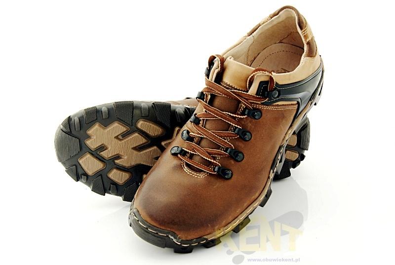 5d50a734 KENT 116 BRĄZOWE - Trekkingowe buty męskie 100% skórzane - Sklep ...
