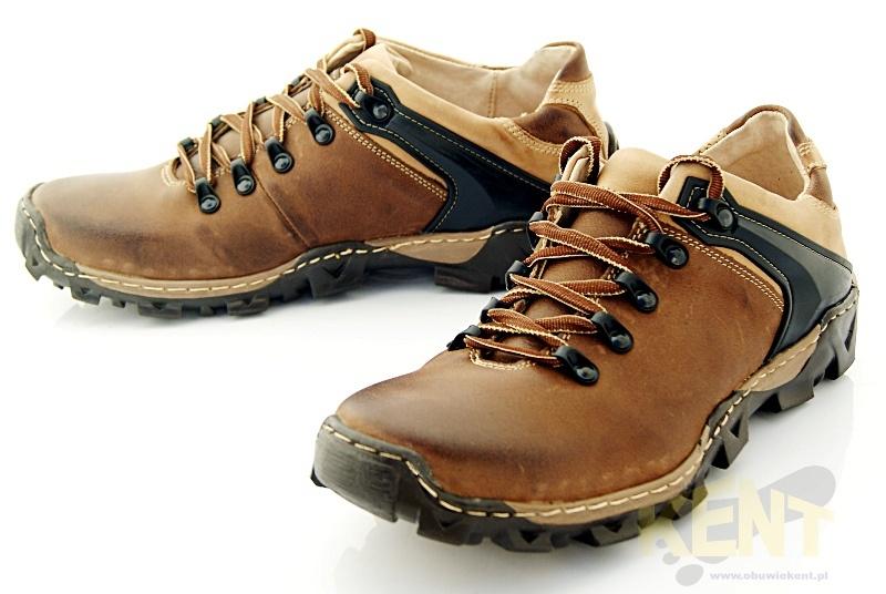 db6cc44183c9 KENT 116 BRĄZOWE - Trekkingowe buty męskie 100% skórzane - Sklep ...