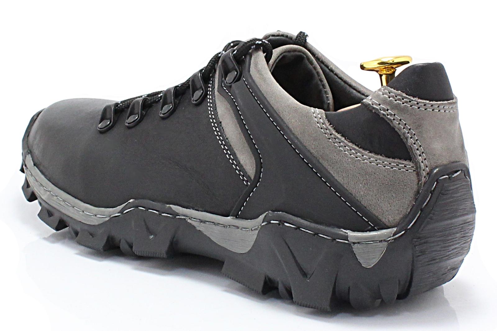 89e6890710ef4 KENT 116 CZARNO-SZARE - Trekkingowe buty męskie 100% skórzane ...