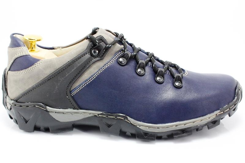 619038c6575f71 KENT 116 GRANATOWE - Trekkingowe buty męskie 100% skórzane - Sklep ...