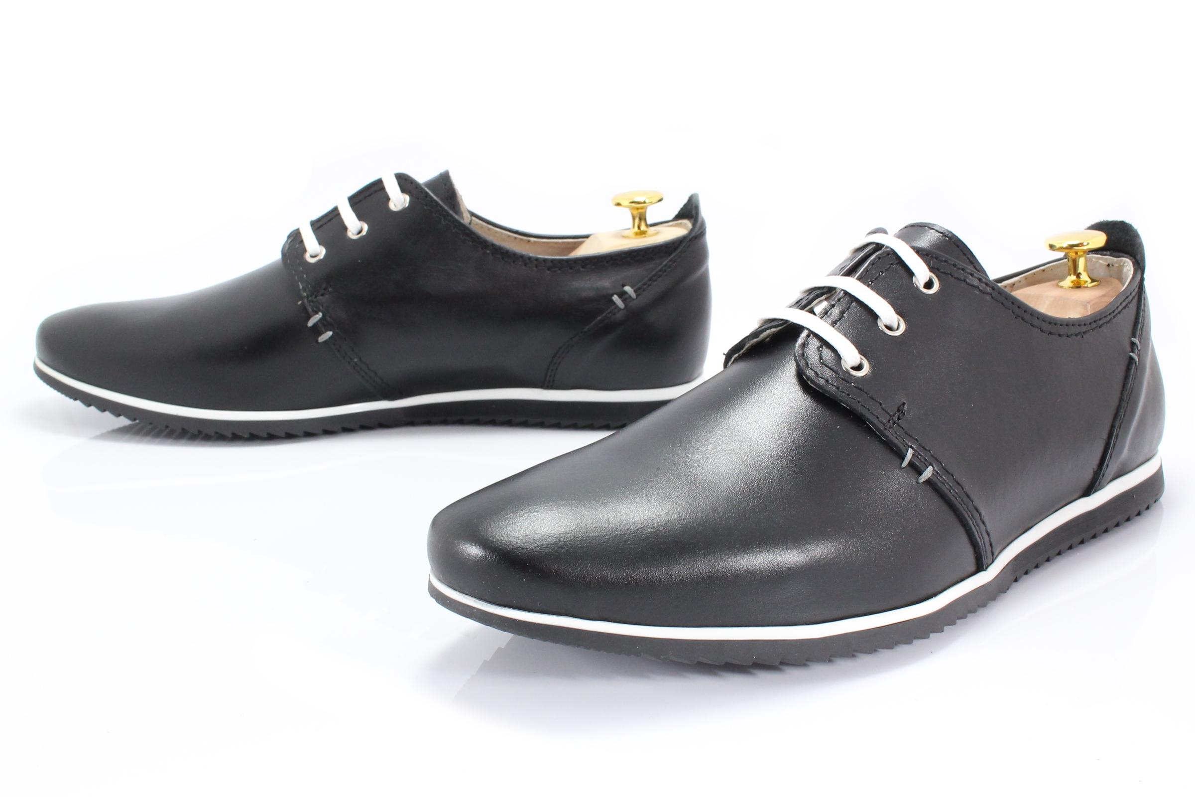 66896e5d843bc KENT 209 CZARNE - Męskie wygodne buty ze skóry - Sklep Obuwniczy KENT