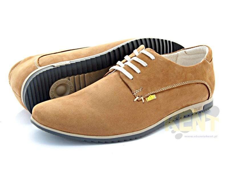 19e447175c892 KENT 215 BRĄZ NUBUK- Męskie buty skórzane