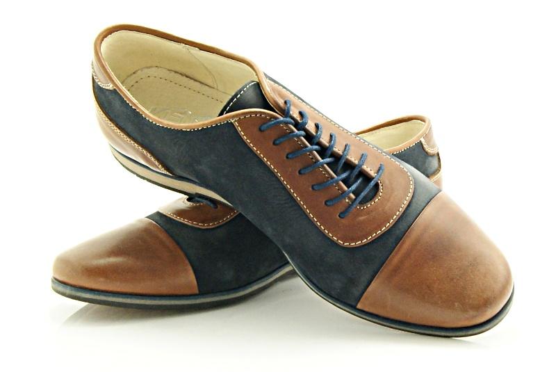 Kent 262 br z granat stylowe buty m skie casual ze sk ry sklep obuwniczy kent House sklep buty meskie