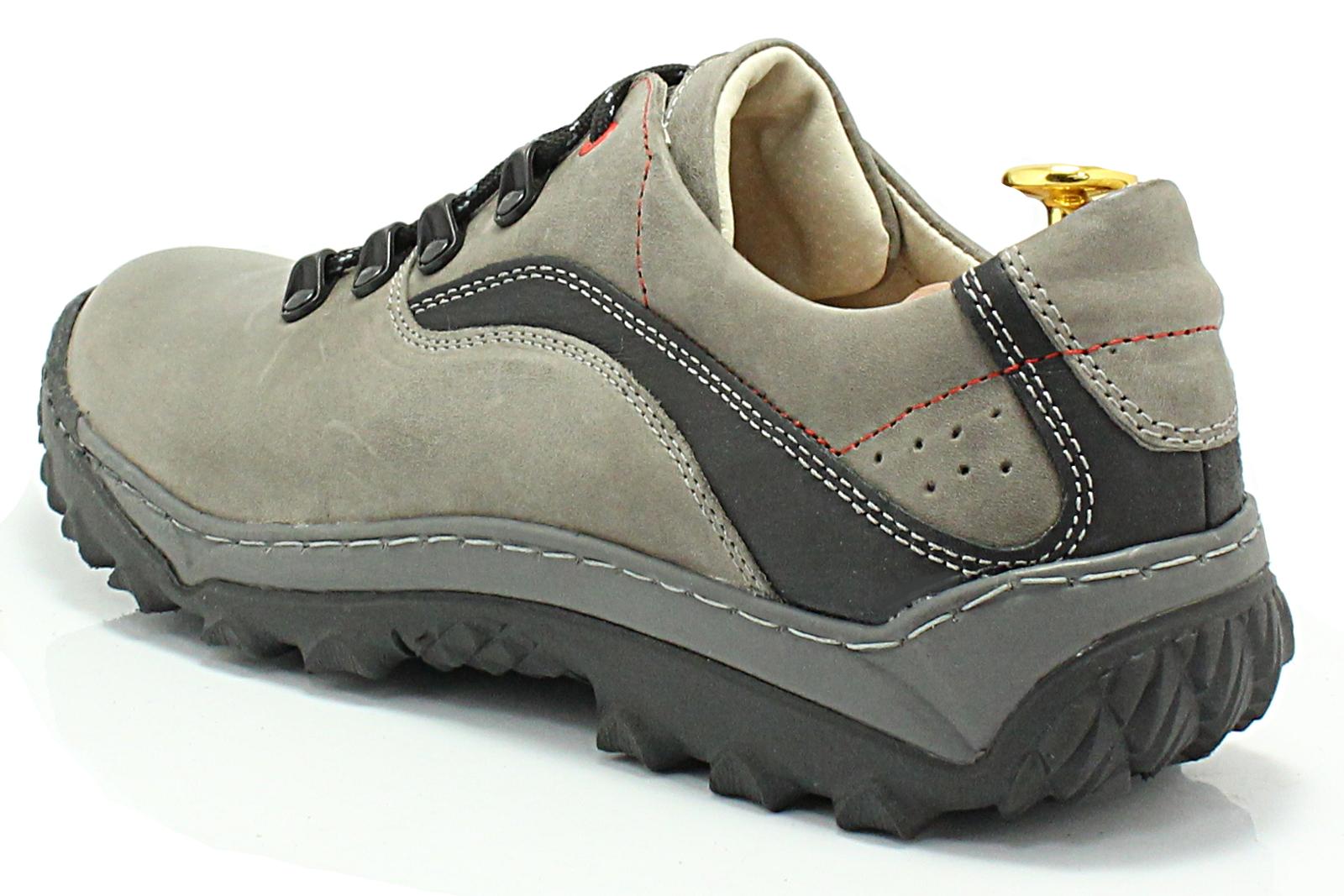 65b8e41c KENT 268 SZARY - Polskie solidne buty trekkingowe ze skóry naturalnej