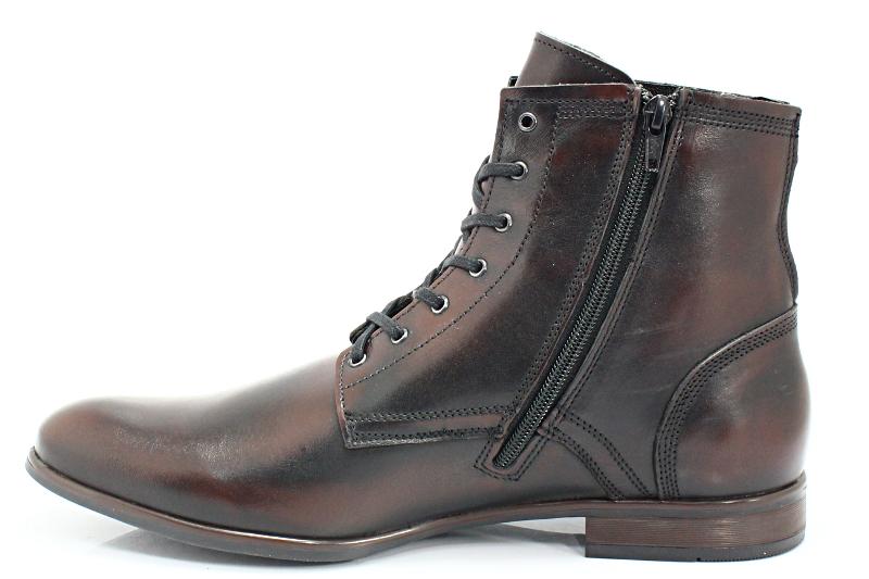 KENT 287 BRĄZ KABIR Wysokie buty męskie, casual Brązowy