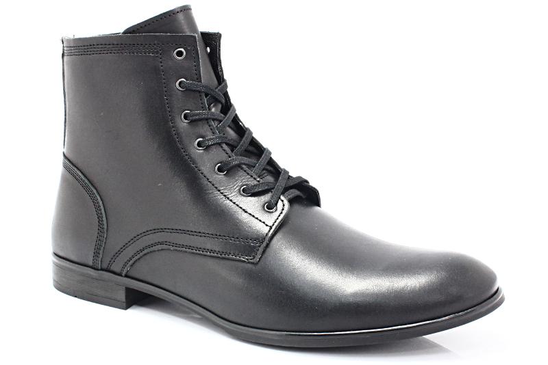 b5671006 KENT 287 CZARNY - Wysokie buty męskie, casual - Sklep Obuwniczy KENT