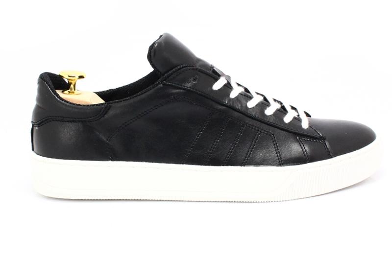 Kent 293 CZARNY BIAŁY Skórzane buty sportowe buty sportowe