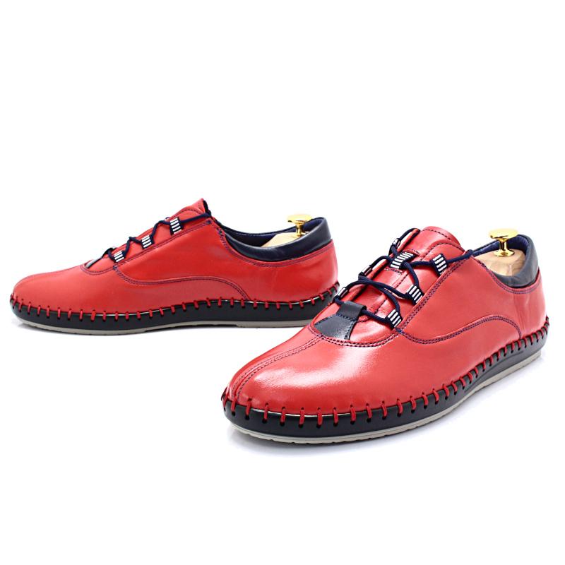 KENT 312 CZERWONE Miękkie buty ręcznie szyte Sklep